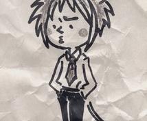 ラフな擬人化似顔絵イラスト描きます( ´ ▽ ` )