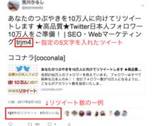 あなたのつぶやきを10万人に向けてリツイートします ★高品質★Twitter日本人フォロワー10万人をご準備!
