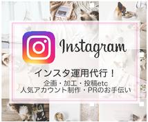 1ヶ月間Instagram/インスタ運用代行します PR/人気アップに☆企画・写真加工・ハッシュタグの選定もOK