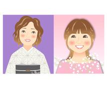 Happyになる似顔絵イラストを描きます。