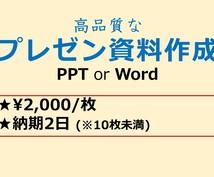 高レベルなプレゼン資料を作成します WordやPowerpoint の資料を高品質で作成!