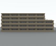 3Dで作成した建物、外構等を地図上に配置します 建築士、建築施工管理技士がお手伝いします。