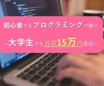 初心者でもプログラミングで稼ぐ方法教えます ~大学生でも月収15万円達成した方法~