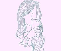 シンプルで可愛い女性とお花のデザイン描きます アイコンやホーム画面などをお探しの方へ!