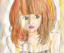 水彩画の簡単なイラスト描きます!
