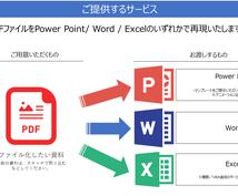 PDFをパワポ/Word/ Excelで作成します 見るだけのPDFファイルが加工可能なファイルに!