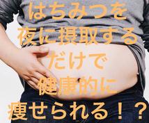 痩せ体型に変える!夜はちみつダイエットを教えます 貴方がすることは蜂蜜を摂取するだけです!