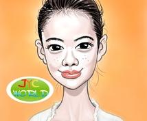 個性あるシンプルでポップな似顔絵お描きします JYC Worldへお任せ下さい