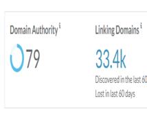 最強ドメインサイト2つから良質なリンクを提供します ドメインパワー79と68のサイトからSEO効果抜群の被リンク