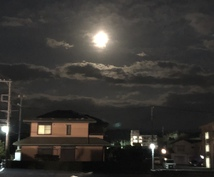 ストロベリームーン*満月*サンシャワーあります 太陽・月・空・夕焼け・雲の一点物写真10枚です