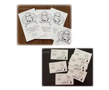 似顔絵サンキューカードや名刺を作成します ハンドメイド作家さんにぴったり♪ショップカードにもどうぞ