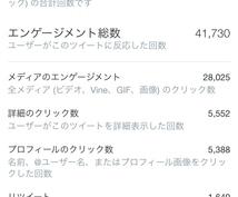 インフルエンサーTwitterアカにて拡散します 最高インプレッション数約77万!