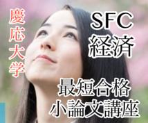 慶應大学一般入試(SFC,経済)の小論文添削します 他の私立大学や国立難関大学に併願受験生歓迎!<一般入試用>