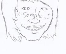 まずはここから!似顔絵ラフ無料で描きます!