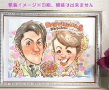 【ふんわり水彩タッチのウェルカムボード】!!プロの似顔絵師が描きます!!