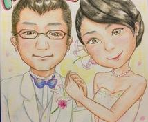 優しくて可愛い似顔絵【水彩色鉛筆で】描きます ウェディングシーンやお祝いのプレゼントに!