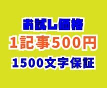 1記事500円×2★ブログ記事書きます 1500文字以上保証!オールジャンル気軽にご相談ください