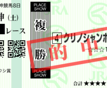 【JRA】今週の競馬を複勝各1頭3R、1000円で予想提供します。
