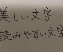 各種手書き文字の代筆します 非の打ち所がないとはいかずとも読みやすくそれなりに見える文字