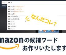 業界初!アマゾンの候補ワードを出します 対象商品が1位となるワードを最短4日で出します!!