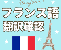 そのフランス語の翻訳、本当に大丈夫か、確認します 翻訳完成度、自然度、文法・綴り・誤字等を徹底的に確認します。