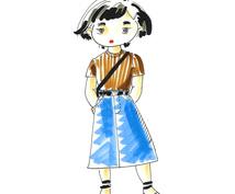 あなたのお気に入りのファッションをまとったイラスト描きます!(アイコン要相談)