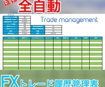 "FX☆""ほぼ""全自動トレード管理表を販売します 毎トレード手打ちで入力するのが嫌な方計算が苦手な方にオススメ"