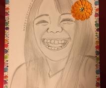 鉛筆画似顔絵お描きします 大切な人へのプレゼントにいかがですか
