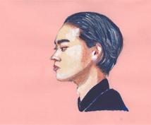 アクリル絵の具で似顔絵描きます SNSアイコン、プレゼントにいかがでしょうか^^