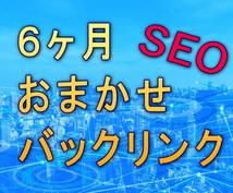 SEO対策に不可欠なバックリンクを提供します 優良サイトトップページから30リンクを6ヶ月間!