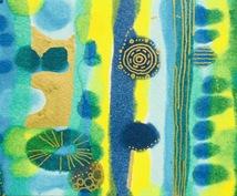 ブルーインスピレーション〜あなただけの青を描きます 爽やかクールなバナーやアイコンに。抽象画・テキスタイルアート