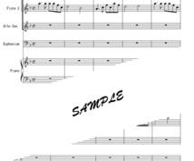 手書きの譜面を清書します 手書きの譜面を、販売されている譜面のような見やすい譜面へ。