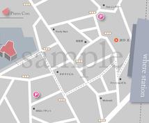 【デザイン重視】手書きの地図からMAP作成します【シンプル・スタイリッシュ】