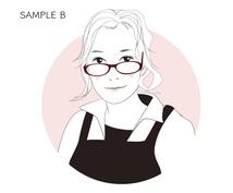 お写真から似顔絵を描きます SNSアイコン、プロフィール画像、名刺などにいかがでしょうか
