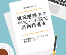 期間限定500円/現役慶應生が作文添削いたします 自分の作文・小論文の腕試しをしたい中高生向け