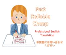 英語文献を翻訳します Jargonや専門用語が多く含まれる英語文献を翻訳