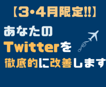 あなたのTwitterを徹底的に改善します 法人、個人問わず。Twitterを改善します!