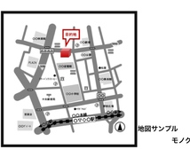住所から迅速にシンプルな地図作成致します 最短1日でシンプルでわかりやすいアクセスマップを