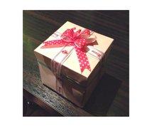 プレゼントボックス作ります!お友達や恋人へのプレゼントに!