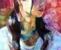 アナログで肖像画制作します 記念にリアルタッチで極彩色の個性的な肖像画を。