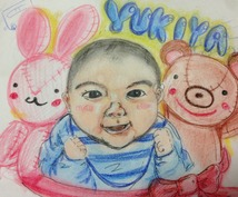 赤ちゃんの似顔絵描きます♬お誕生日お祝い、成長の記念に(^^)