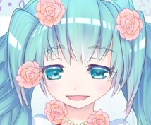 可愛い女の子のSNS用アイコン描きます。