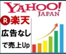 広告無しで楽天・Yahooの売上を伸ばします 【スポット出品】ネット通販で売上が上がらない中小規模店舗様へ