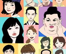似顔絵付き名刺データ作成します 似顔絵付き名刺で取引先や相手に印象に残るビジネスを!