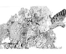 気持ちをこめて、手描きで最後までお描きします あなたの為にイメージを聞いて描きます。幻想的な世界の線画