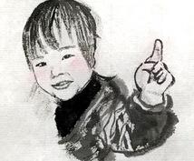 手描きで墨絵の似顔絵を描きます 個性的な似顔絵を作ってみたい方に!プレゼントにも!