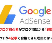 Googleアドセンス合格へのコツ教えます Googleアドセンスに合格したい初心者ブロガーは必見です!