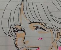 写真をもとに似顔絵をお描きします(*^_^*)