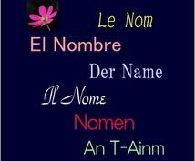 カタカナ言葉のネーミング考案します 法人名、屋号など英語を超えた複数言語を活用します