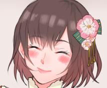 期間限定で簡単なSNS用の少女アイコンを描きます アイコンを華やかにしたい方にオススメです